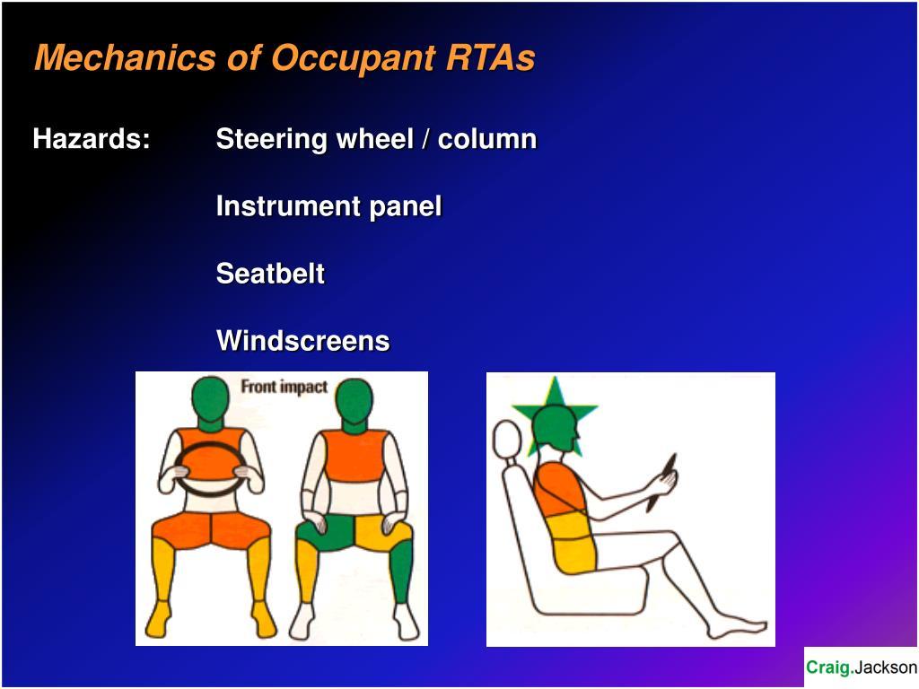 Mechanics of Occupant RTAs