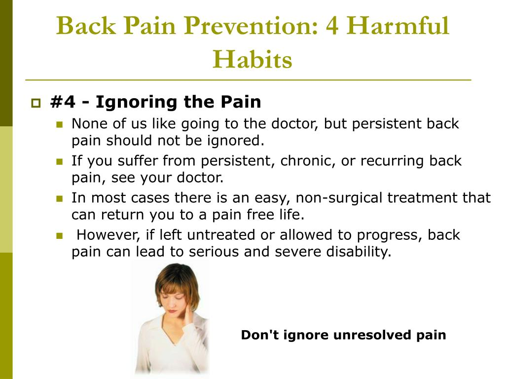 Back Pain Prevention: 4 Harmful Habits