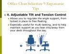 office chair selection 9 ergonomic tips50