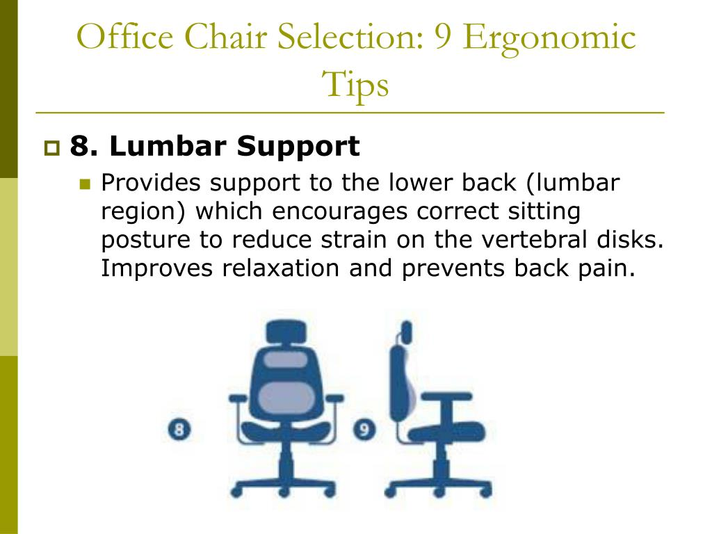 Office Chair Selection: 9 Ergonomic Tips