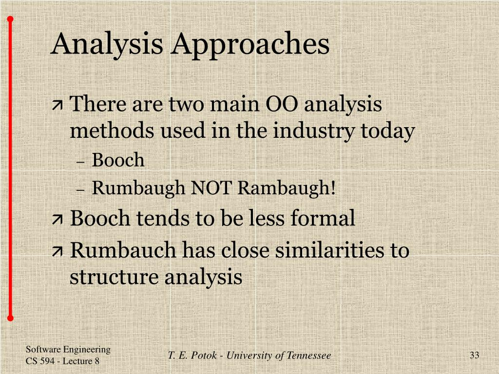 Analysis Approaches