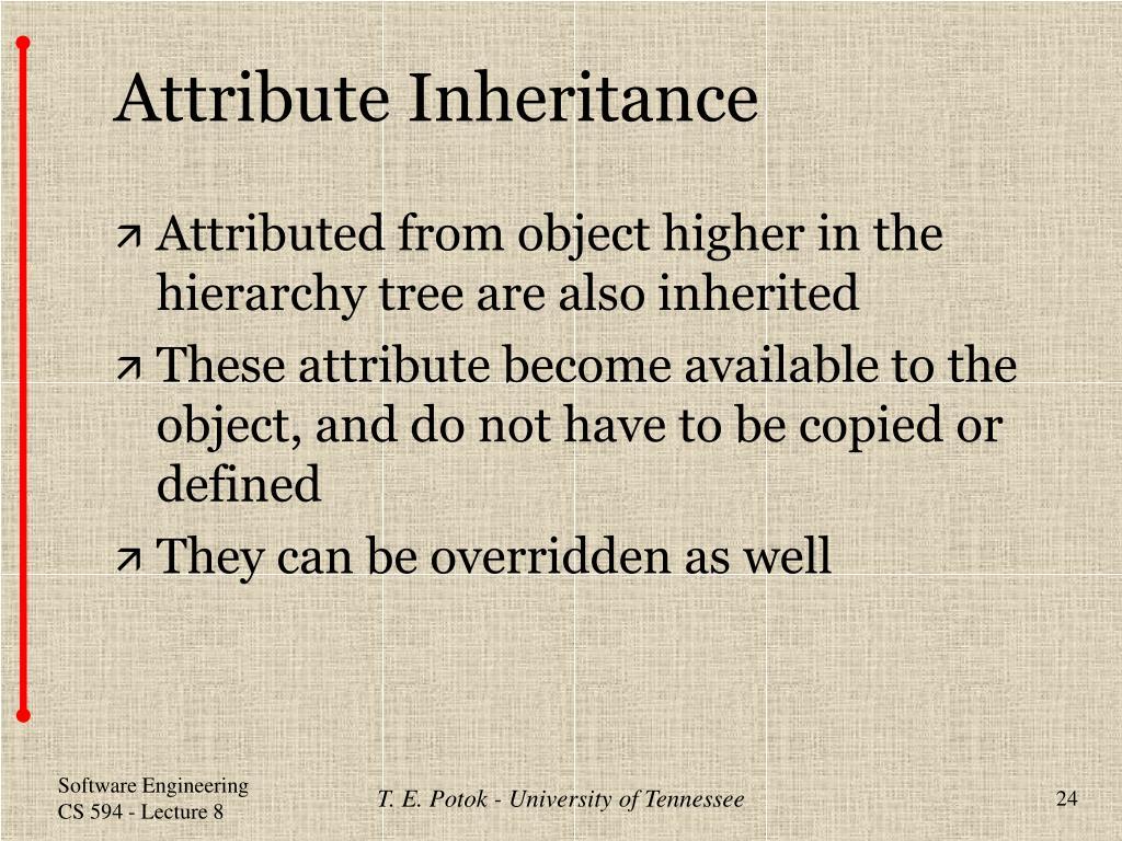 Attribute Inheritance