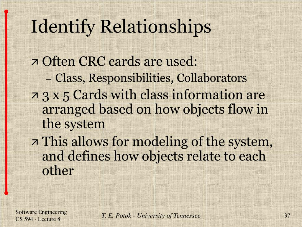 Identify Relationships