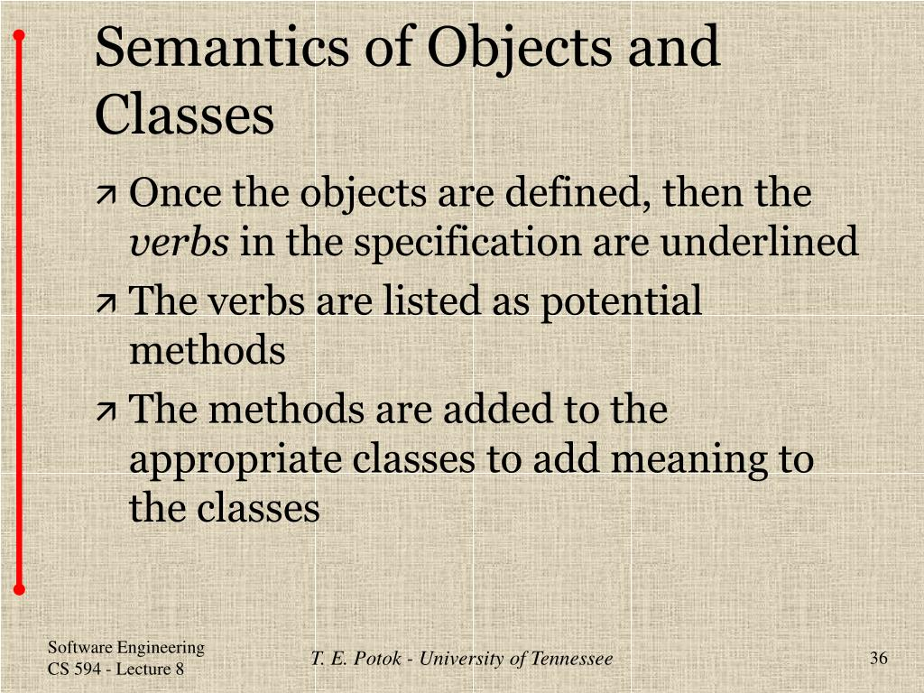 Semantics of Objects and Classes