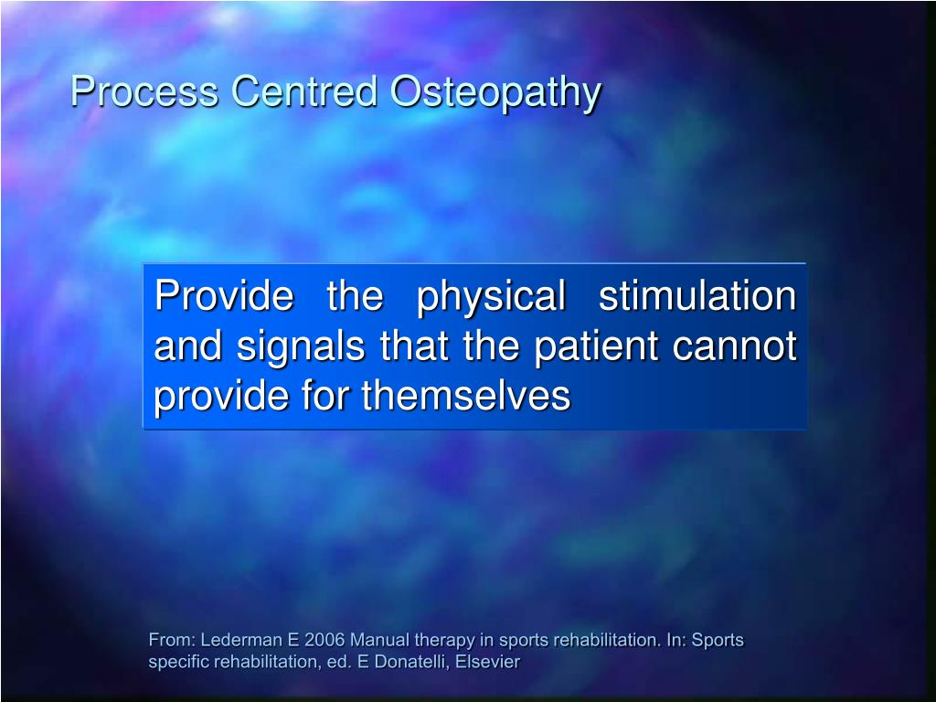 Process Centred Osteopathy