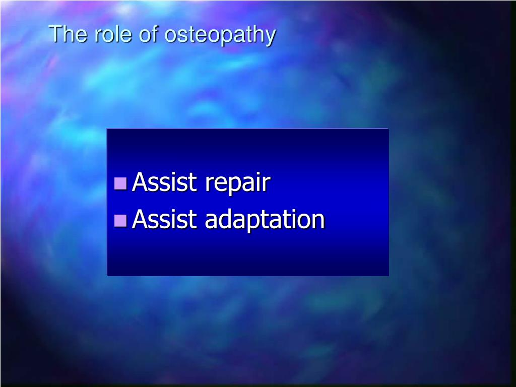 The role of osteopathy