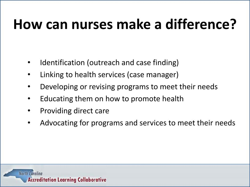How can nurses make a difference?