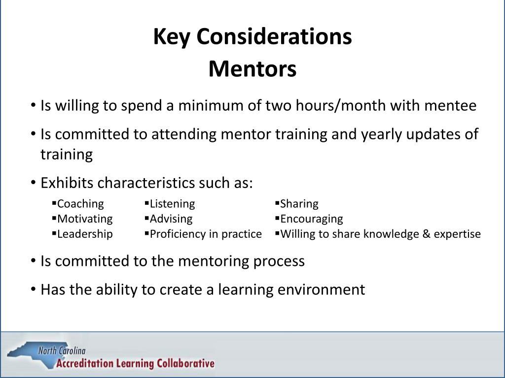 Key Considerations