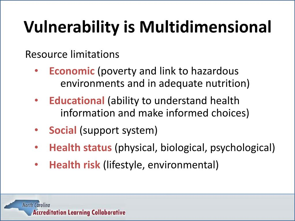 Vulnerability is Multidimensional