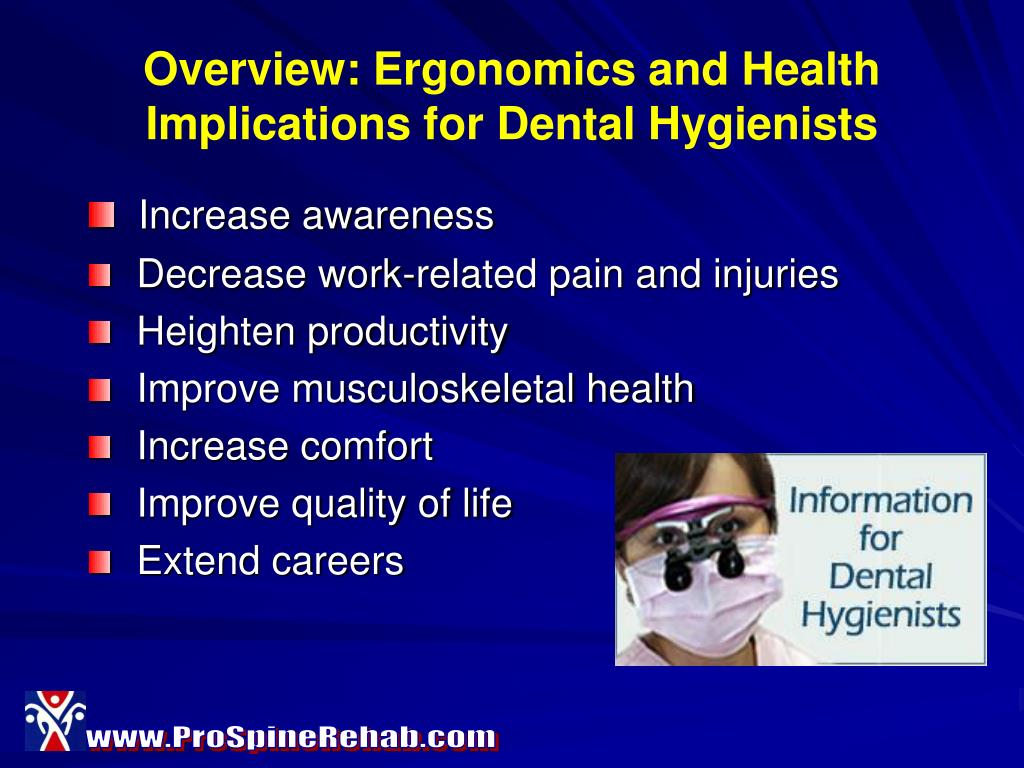 Overview: Ergonomics and Health Implications for Dental Hygienists