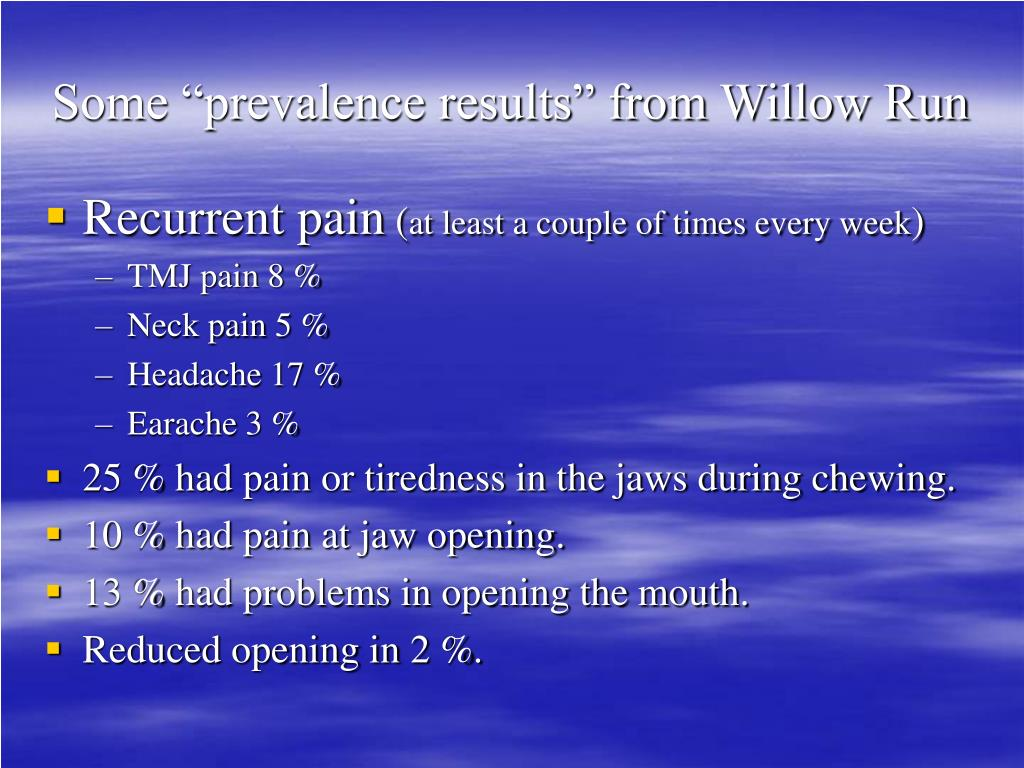 "Some ""prevalence results"" from Willow Run"