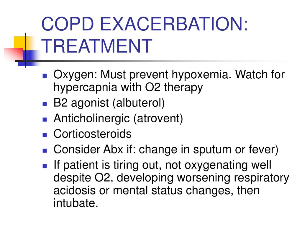 COPD EXACERBATION: TREATMENT