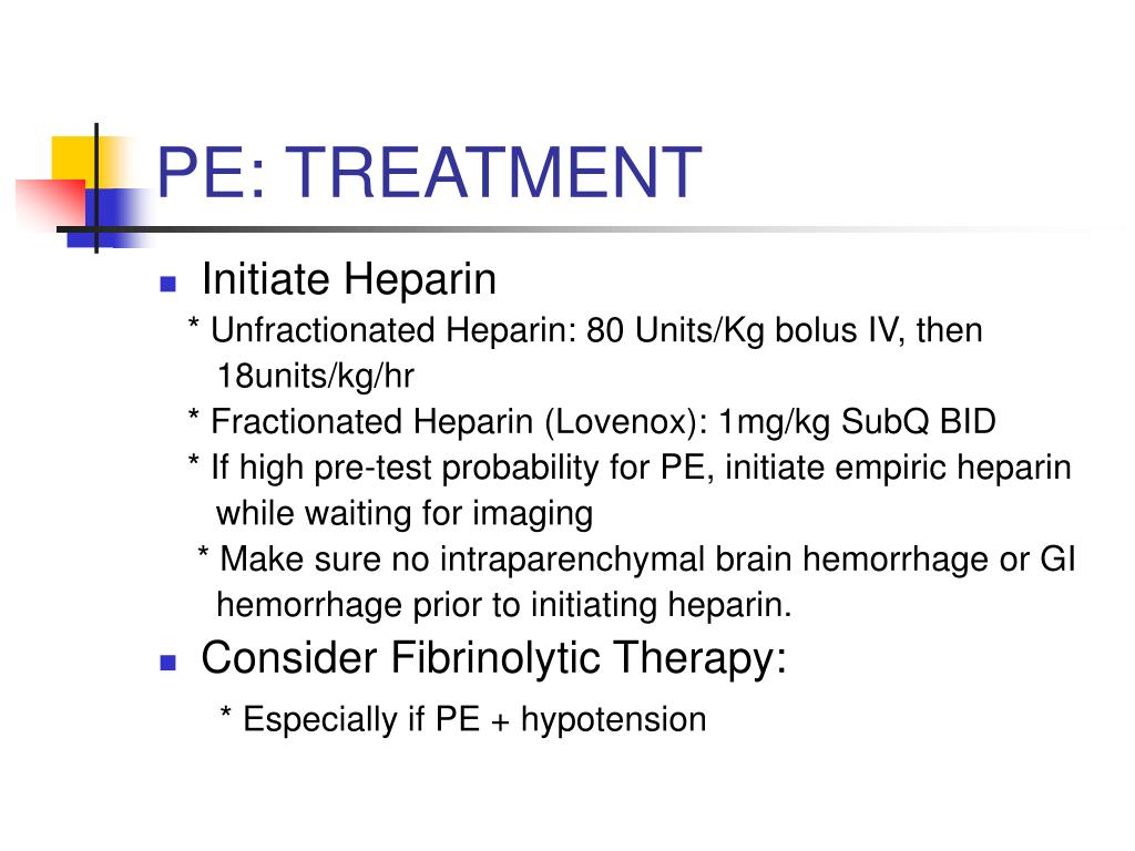 PE: TREATMENT