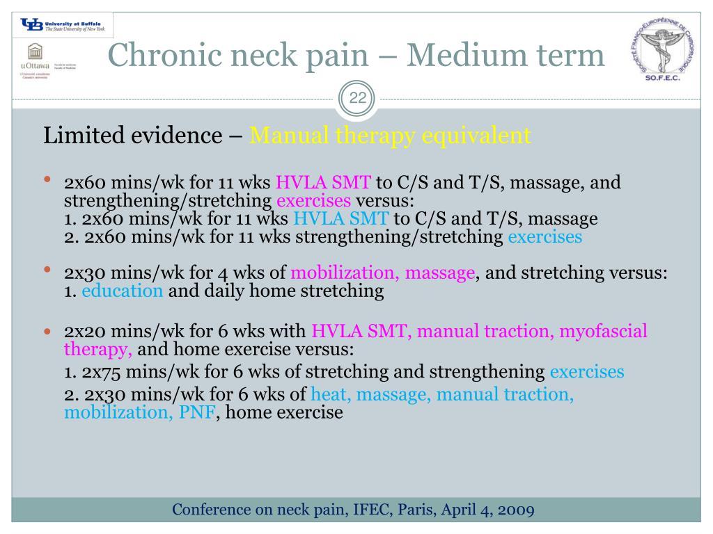 Chronic neck pain – Medium term