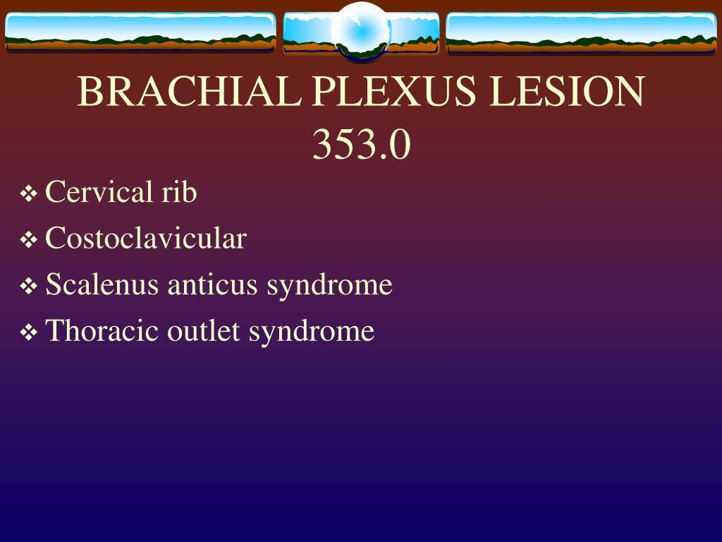 BRACHIAL PLEXUS LESION