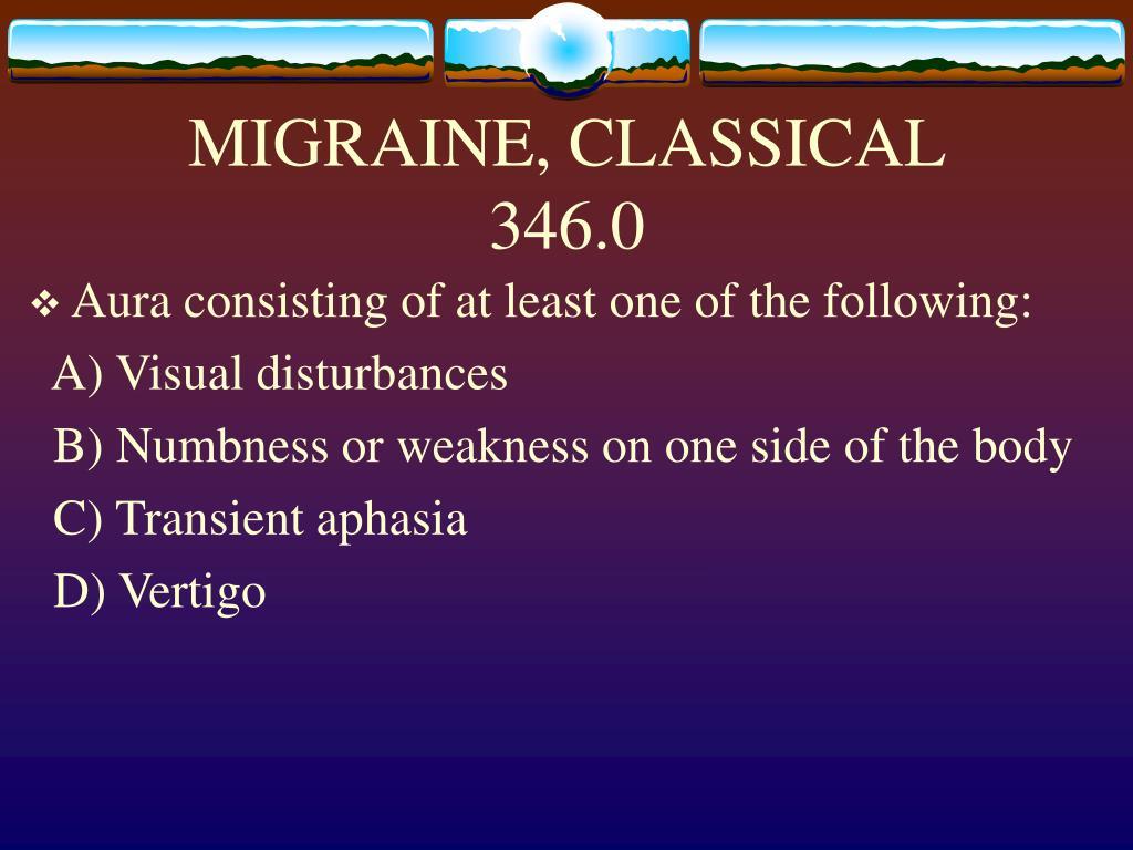 MIGRAINE, CLASSICAL
