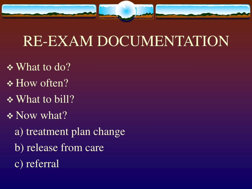 RE-EXAM DOCUMENTATION