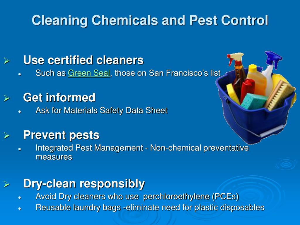 Cleaning Chemicals and Pest Control