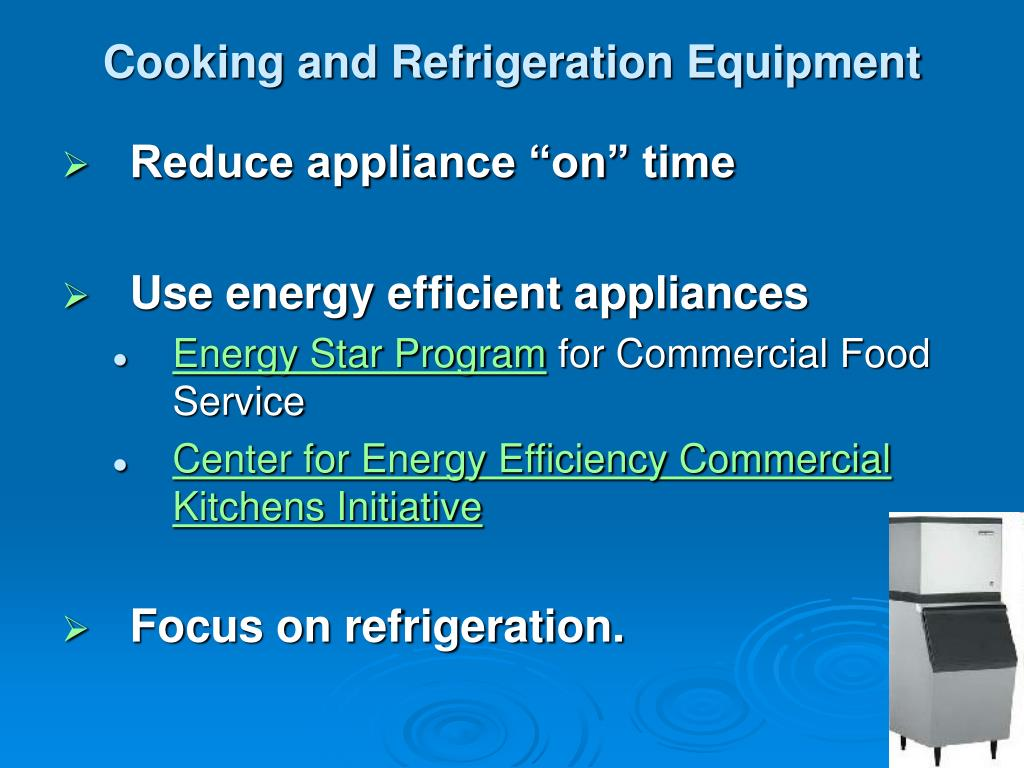 Cooking and Refrigeration Equipment