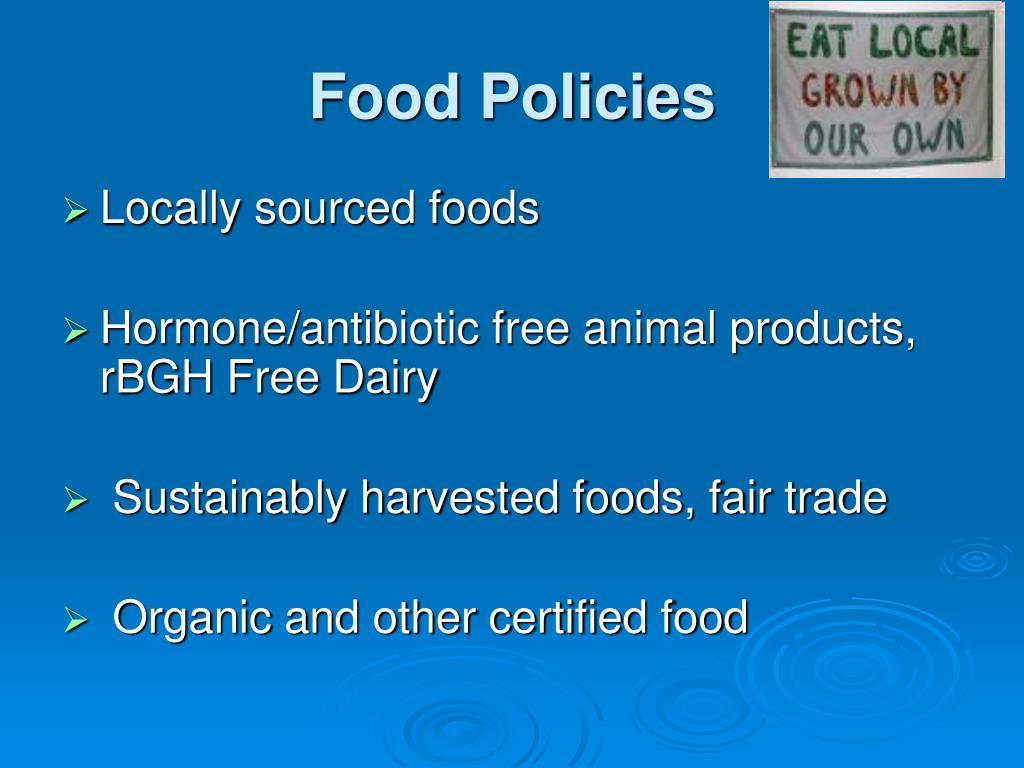 Food Policies