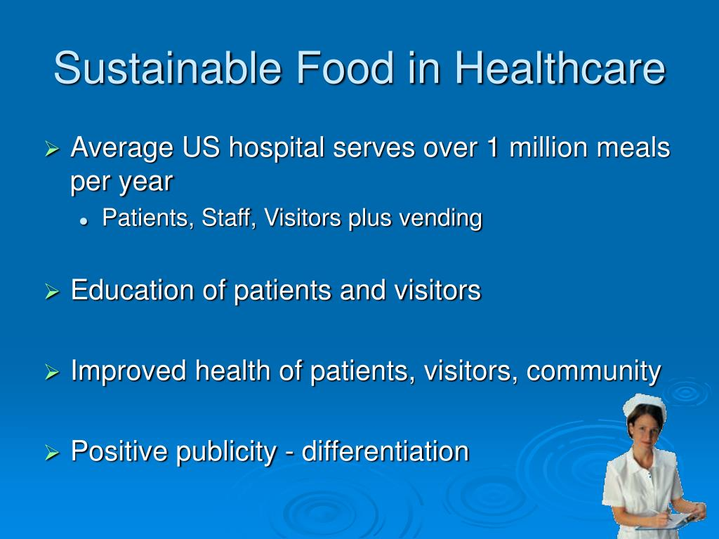 Sustainable Food in Healthcare