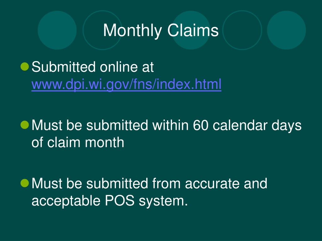 Monthly Claims