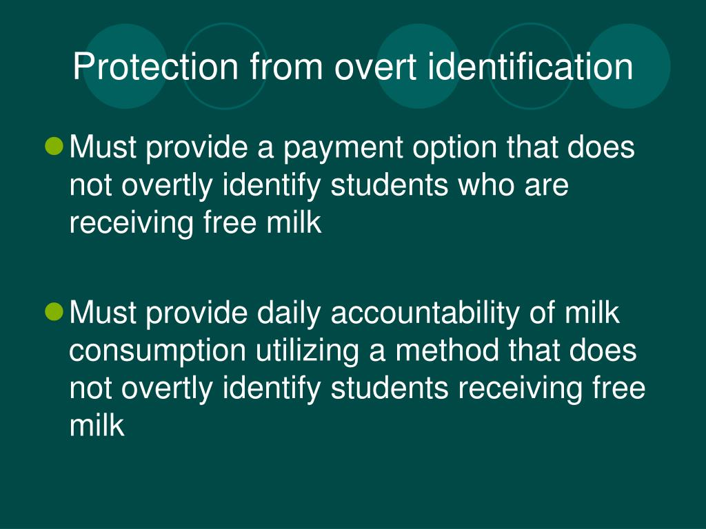 Protection from overt identification