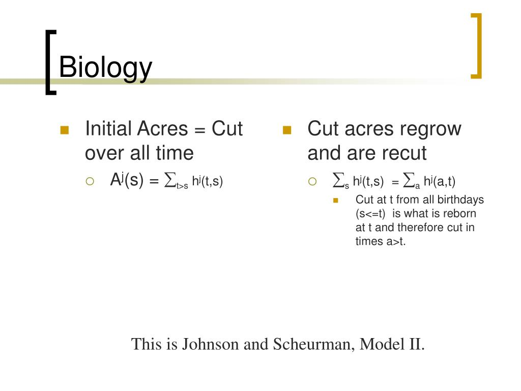 Initial Acres = Cut over all time