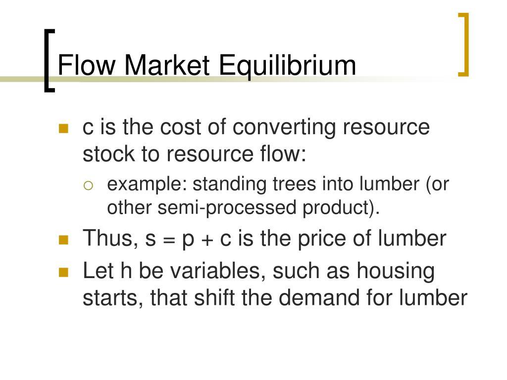 Flow Market Equilibrium