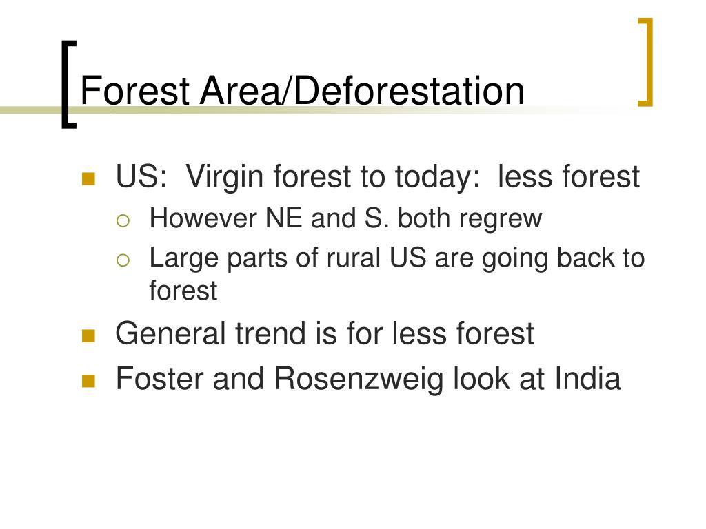 Forest Area/Deforestation
