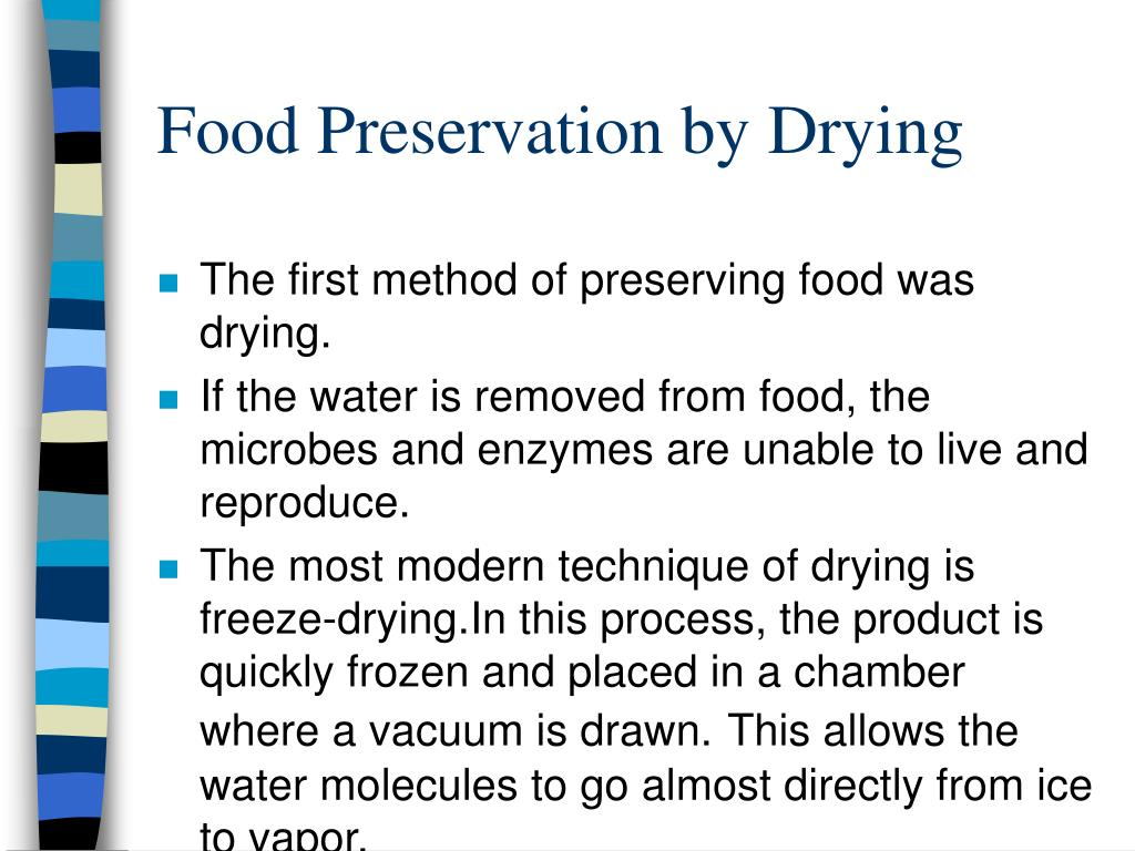 Food Preservation by Drying