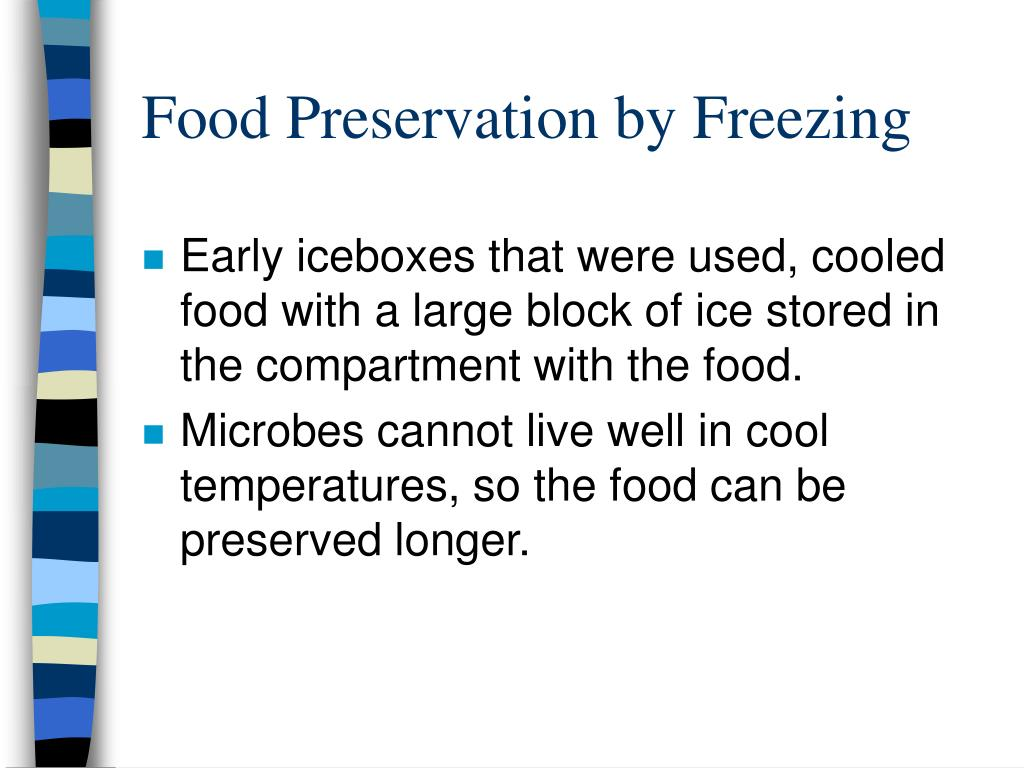 Food Preservation by Freezing