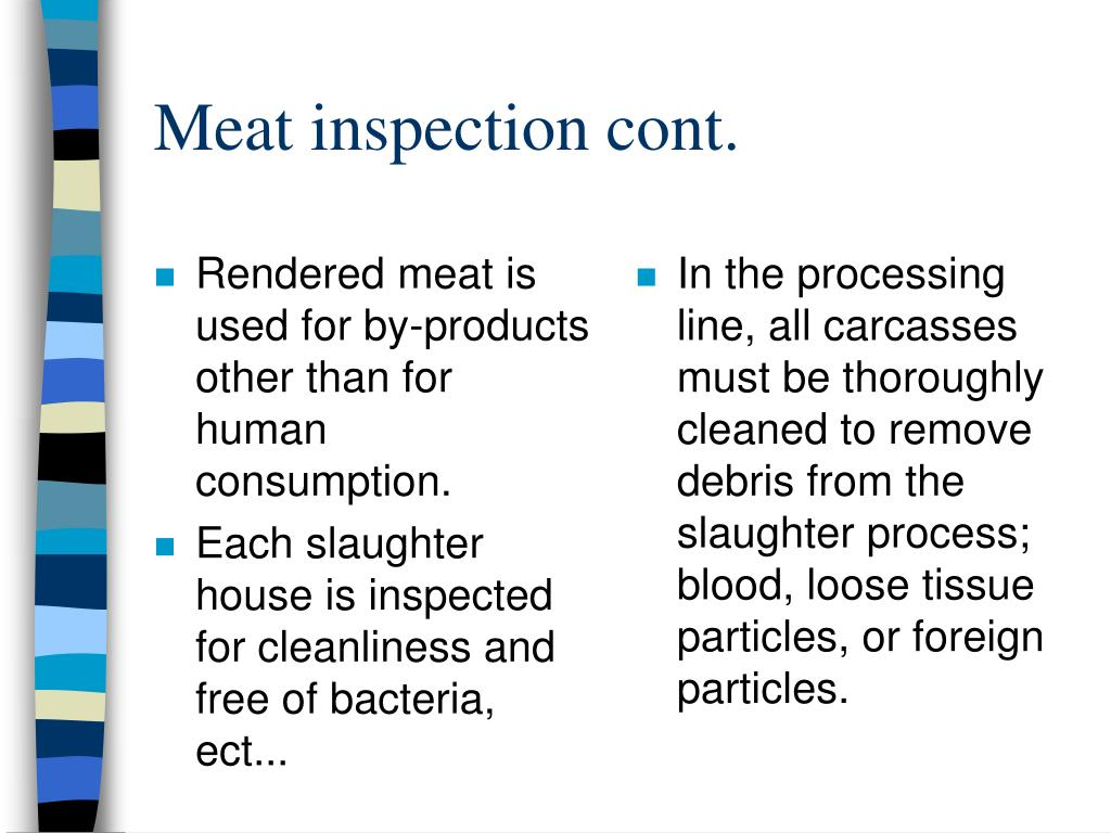 Rendered meat is used for by-products other than for human consumption.