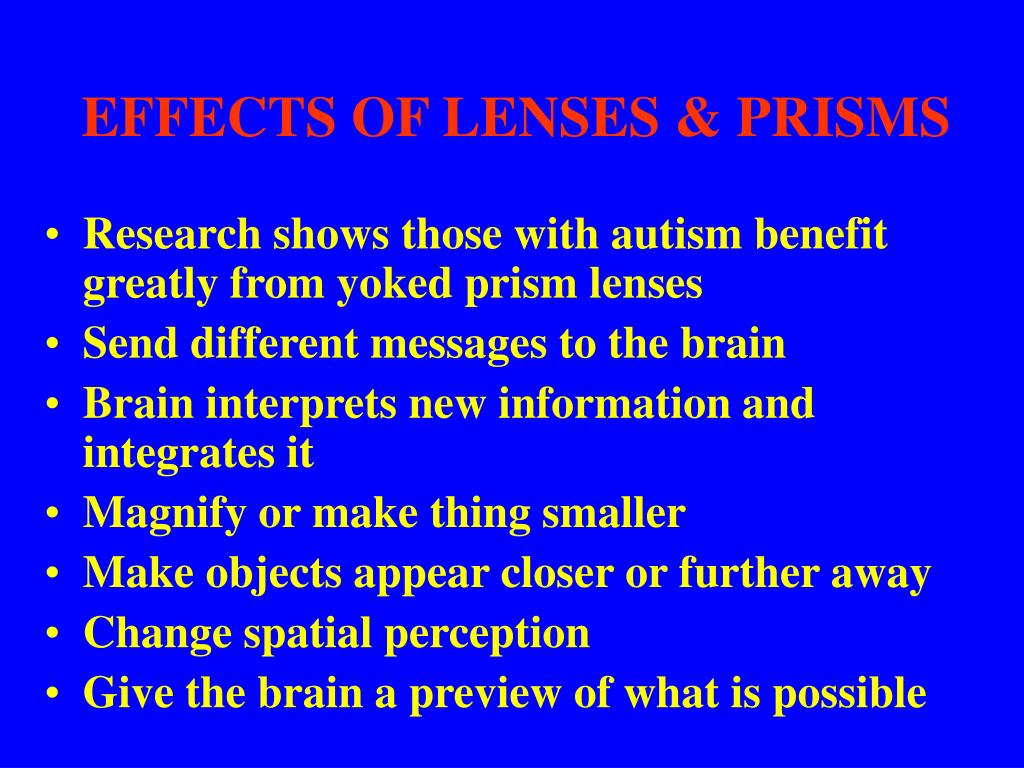 EFFECTS OF LENSES & PRISMS