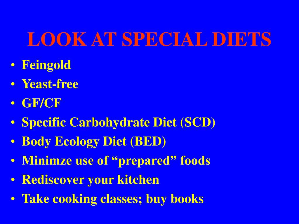 LOOK AT SPECIAL DIETS