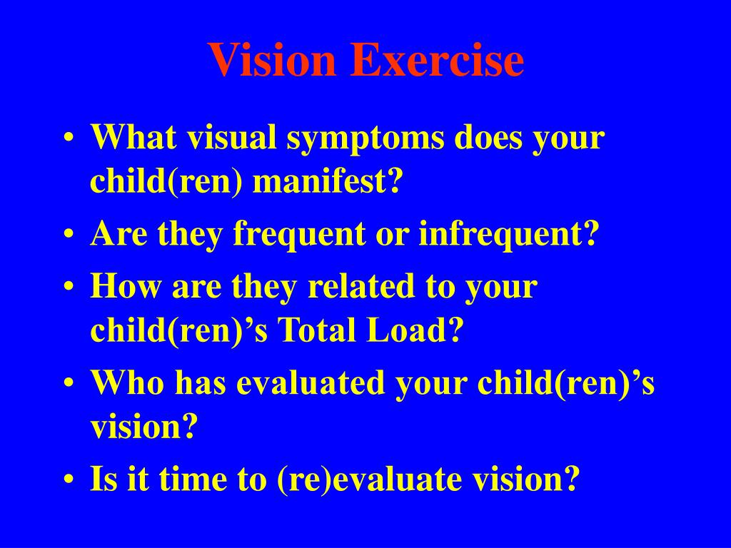 Vision Exercise