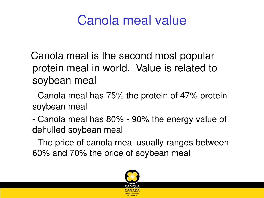 Canola meal value