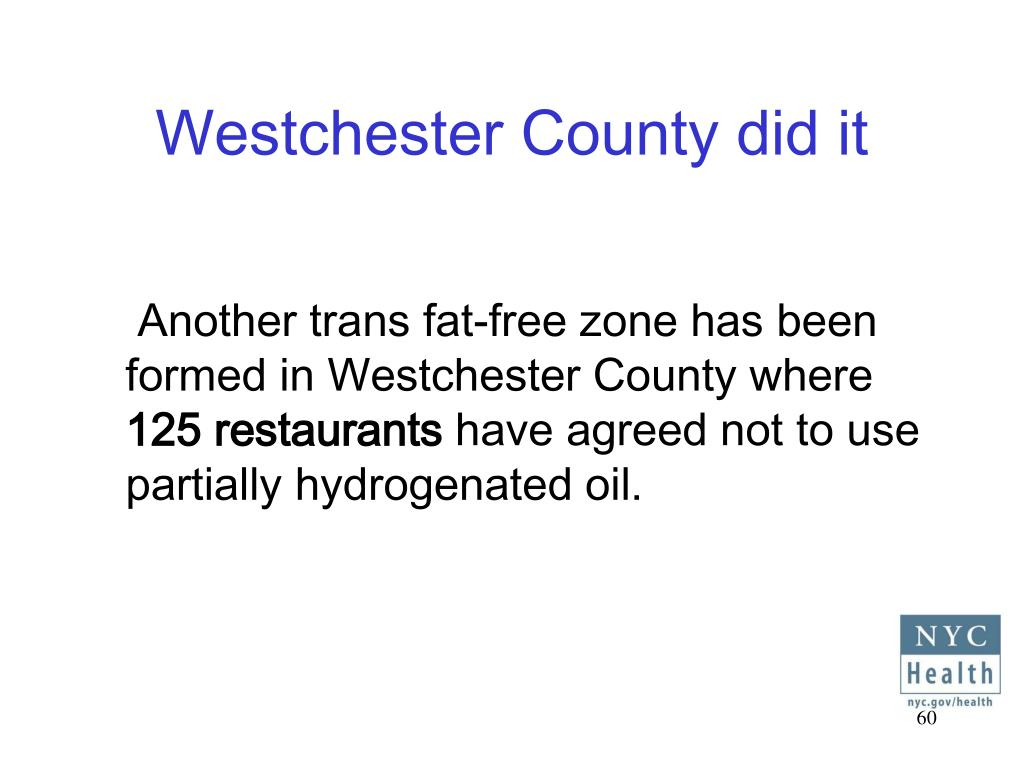 Westchester County did it