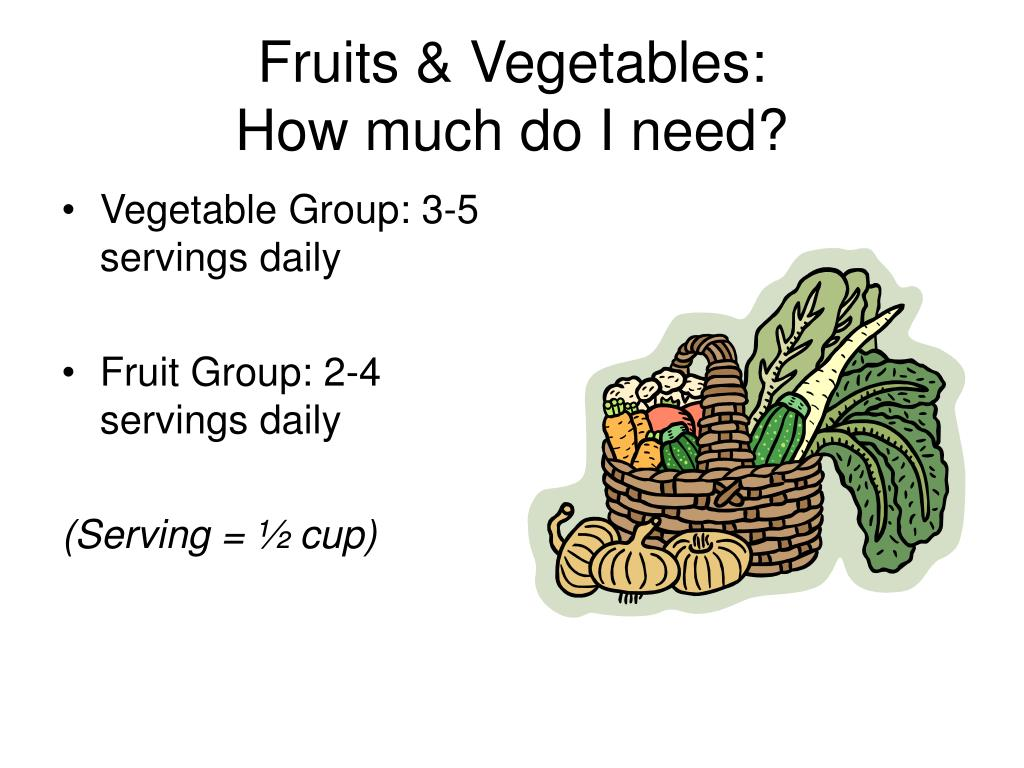 Fruits & Vegetables: