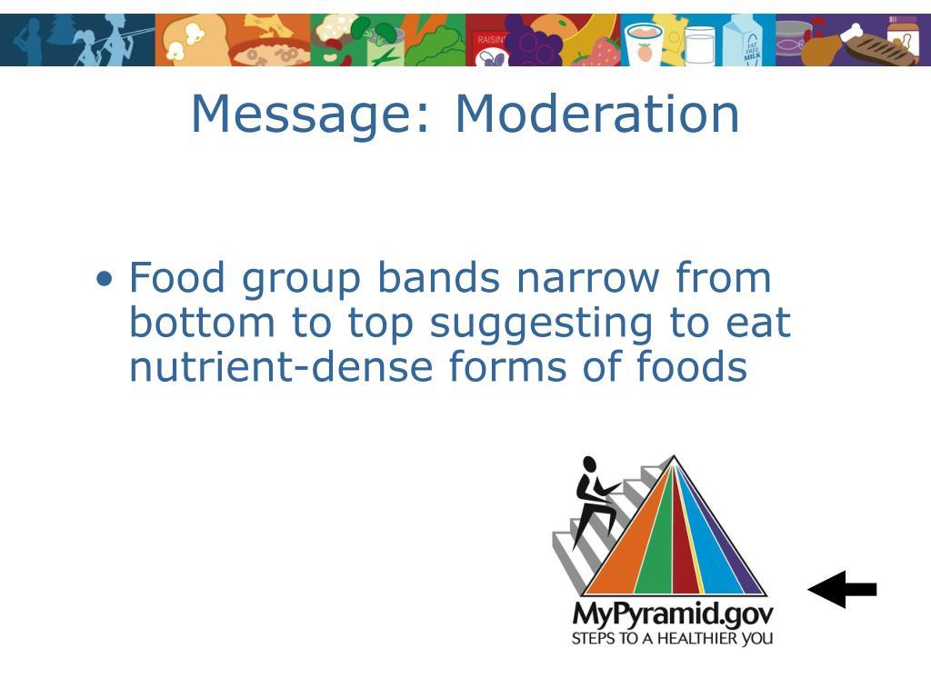 Message: Moderation