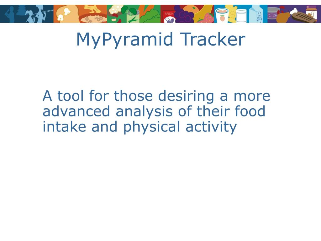 MyPyramid Tracker