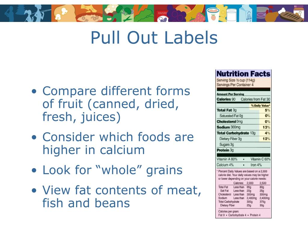 Pull Out Labels