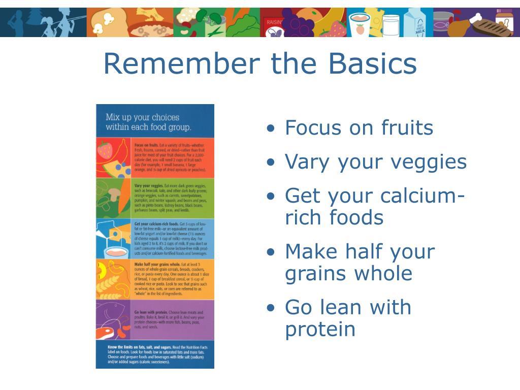 Remember the Basics