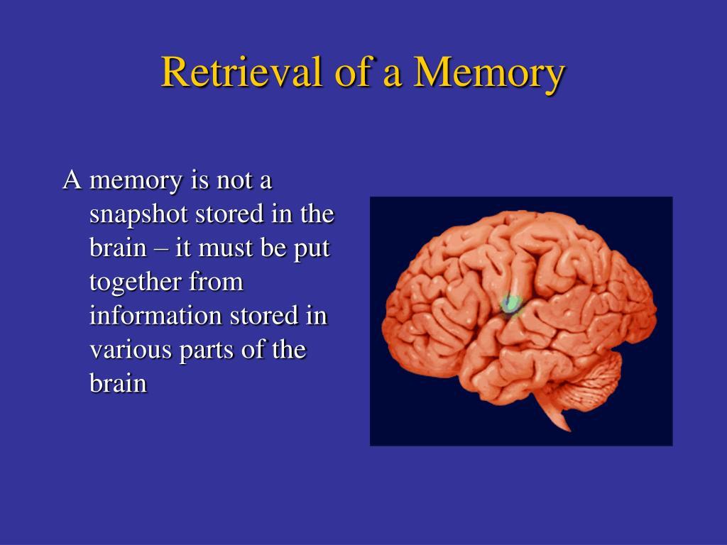Retrieval of a Memory