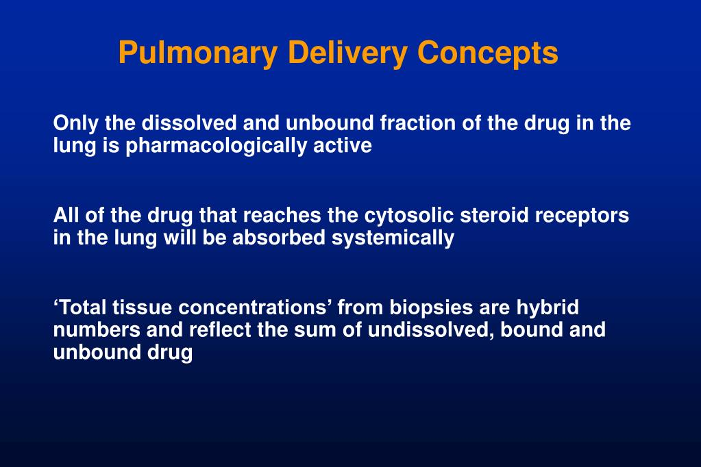 Pulmonary Delivery Concepts