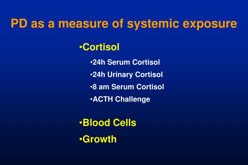 PD as a measure of systemic exposure