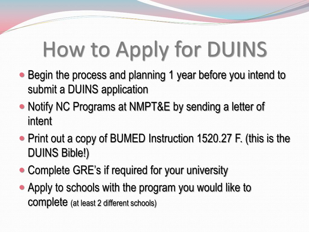 How to Apply for DUINS