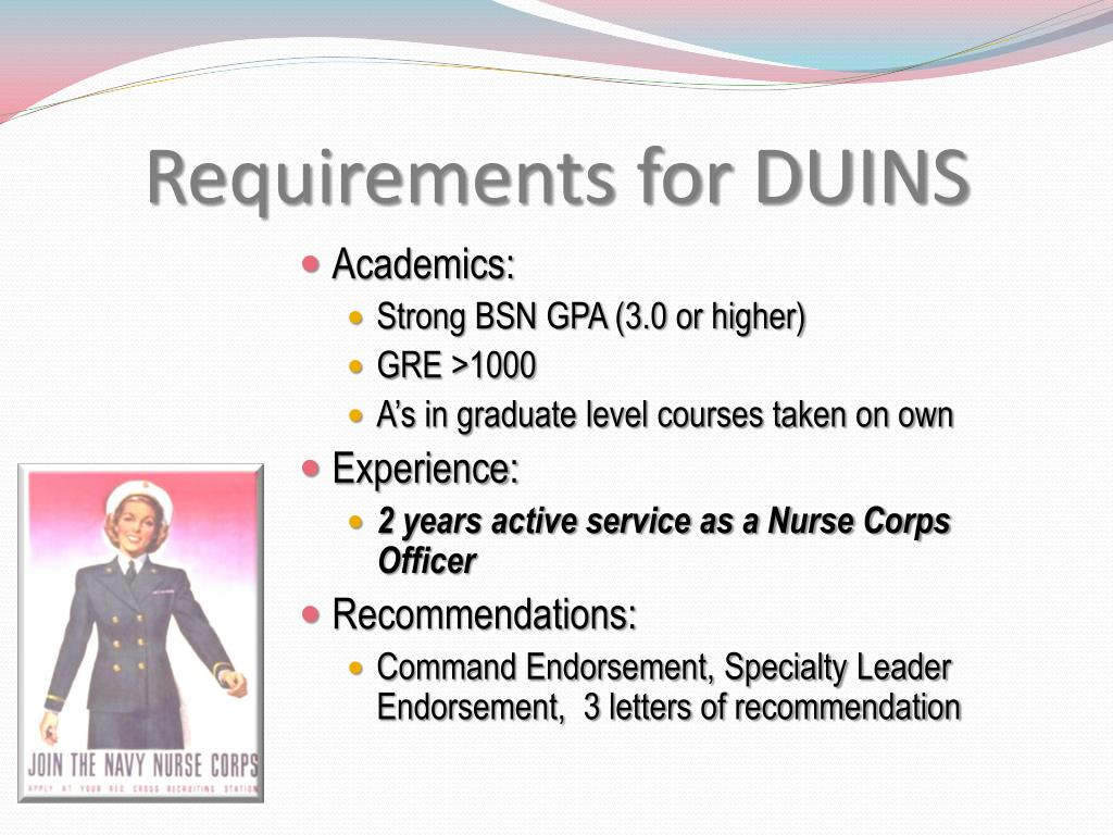 Requirements for DUINS