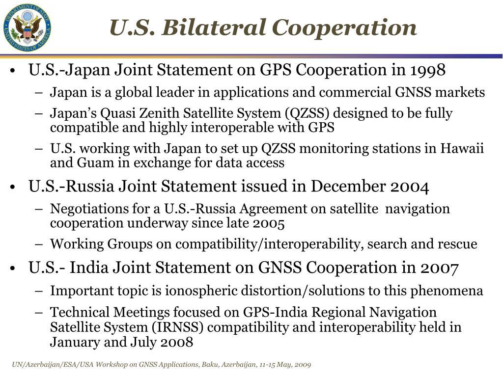 U.S. Bilateral Cooperation