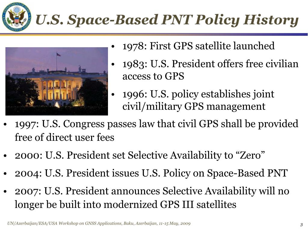 U.S. Space-Based PNT Policy History